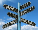 13564616-advice help-support-and-tips-signpost-shows-information-and-guidance